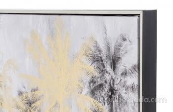 Cuadro Palmeras Plata/Oro (120x60) - 3
