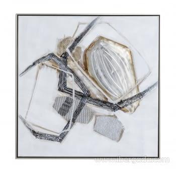 Cuadro Abstracto Cuadrado I (80x80)
