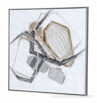 Cuadro Abstracto Cuadrado I (80x80) - 1
