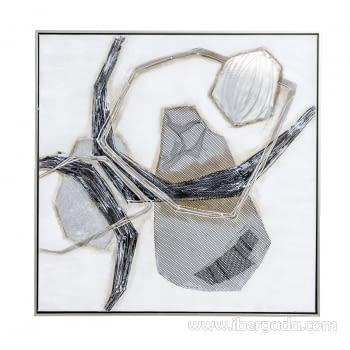 Cuadro Abstracto Cuadrado II (80x80)