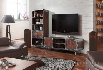 Mueble TV Saigon Mango/Hierro (180x60x45) - 1