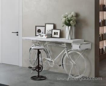 Consola Nagpur Bicicleta Blanca (198x40x102)