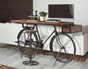 Consola Nagpur Bicicleta Negra (198x40x102)