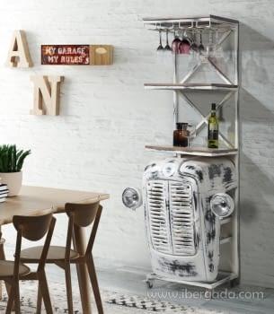 Mueble Bar Calcuta Blanco (86x48x180)