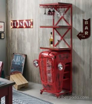 Mueble Bar Calcuta Rojo (86x48x180)