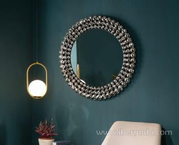 Espejo Esferas Redondo (100x100)