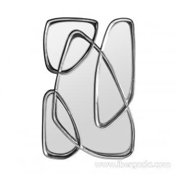 Espejo Abstracto Plata (148x97)