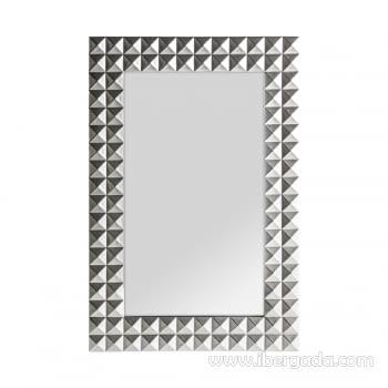 Espejo Motas Plata (92x61)
