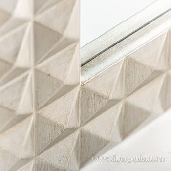 Espejo Motas Plata (92x61) - 1