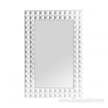 Espejo Motas Blanco (92x61)