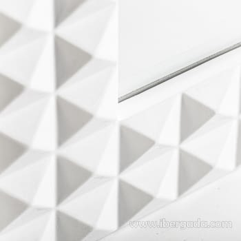 Espejo Motas Blanco (92x61) - 1