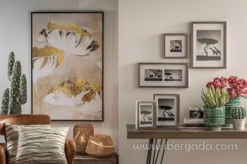 Cuadro Gold Flowers (120x80) - 1