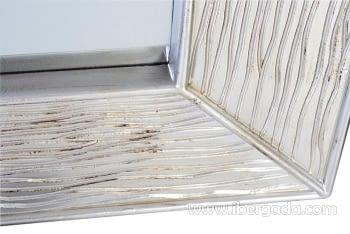 Espejo Cuadrado Plata Envejecida (100x100) - 1