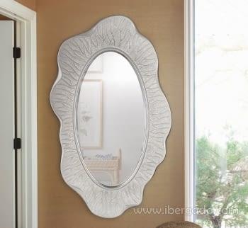 Espejo Desigual Plata Envejecida (150x87)