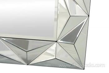 Espejo Glass Pirámides Rectangular (105x70) - 1