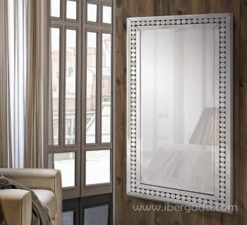 Espejo Glass Círculos Rectangular (120x60)