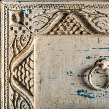 Cómoda Jaipur Hierro/Madera 3 Cajones (80x35x80) - 4