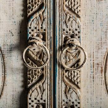 Consola Jaipur Hierro/Madera 3 Puertas (120x35x90) - 3