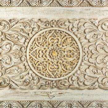 Mesa de Centro Jaipur Hierro/Madera 3 Puertas (120x63) - 2