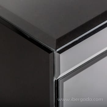 Mesita Black Fussion Negro/Cobre (60x45x65) - 3