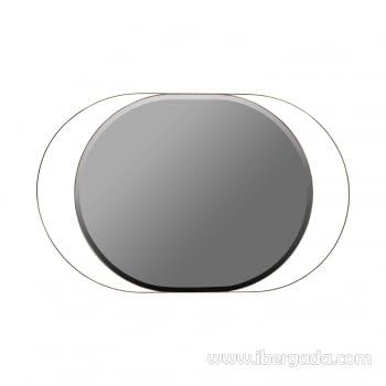 Espejo Oval White Fussion Cobre (110x70)