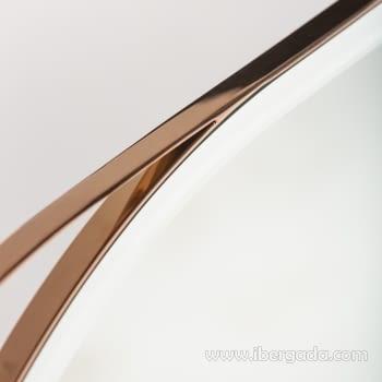 Espejo Oval White Fussion Cobre (110x70) - 1