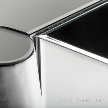 Consola Glaciar Plata/Espejo (120x36x80) - 2