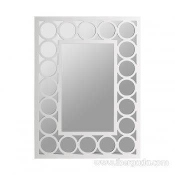 Espejo Círculos Rectangular (80x60)