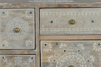 Mueble Auxiliar Madera Mango Beige (42x30x66) - 1