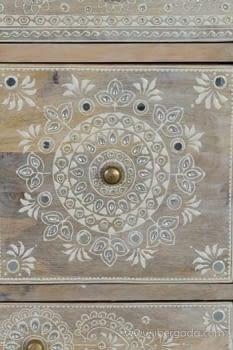 Mueble Auxiliar Madera Mango Beige (42x30x66) - 3