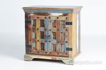 Taquillón Madera reciclada Multicolor 2 Puertas (72x40x72) - 2