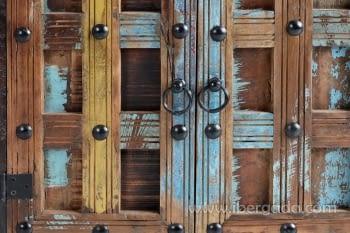 Taquillón Madera reciclada Multicolor 2 Puertas (72x40x72) - 5