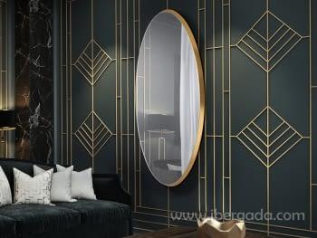 Espejo Aries Oval Oro (170x80)