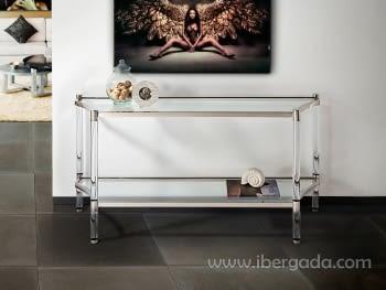 Consola Aissa Acero Inox (152x45x76)