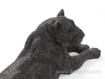 Figura Leona Grande Negro - 2