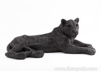 Figura Leona Grande Negro - 3