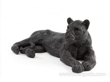 Figura Leona Grande Negro - 4