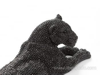 Figura Leona Pequeña Negro - 2