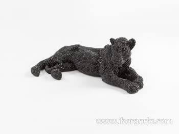 Figura Leona Pequeña Negro - 3