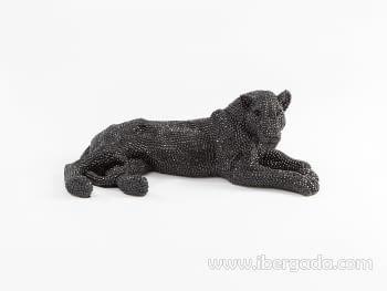 Figura Leona Pequeña Negro - 4