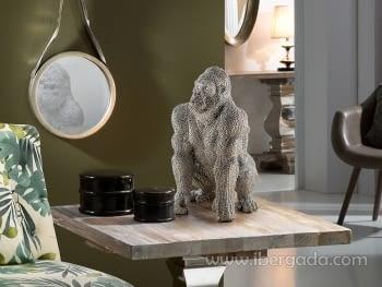 Figura Gorila Pequeña Plata