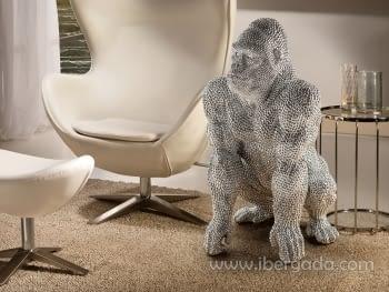 Figura Gorila Grande Plata