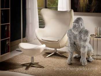 Figura Gorila Grande Plata - 1