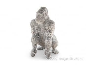 Figura Gorila Grande Plata - 2