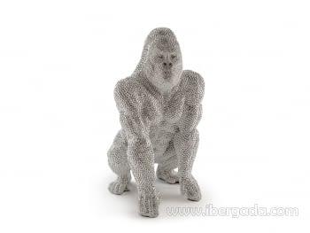 Figura Gorila Grande Plata - 3