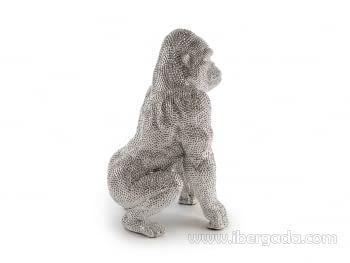 Figura Gorila Grande Plata - 4
