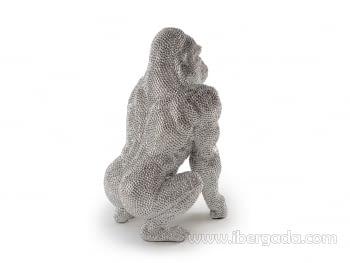 Figura Gorila Grande Plata - 5