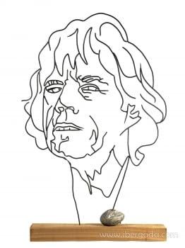 Escultura Mick Jagger (50x10x80)