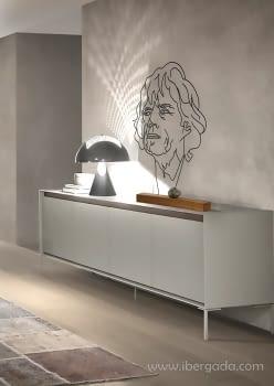 Escultura Mick Jagger (50x10x80) - 1