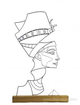 Escultura Nefertiti (40x10x84)